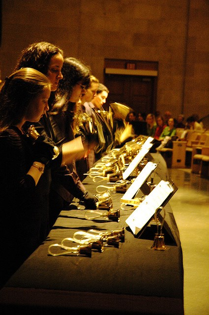 Handbell choir performing Photo By Joe_Focus (Joe), Flickr