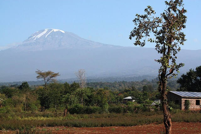 View of Mount Kilimanjaro from Honeybadger Lodge, Moshi, Tanzania Photo by Koen Muurling, Flickr