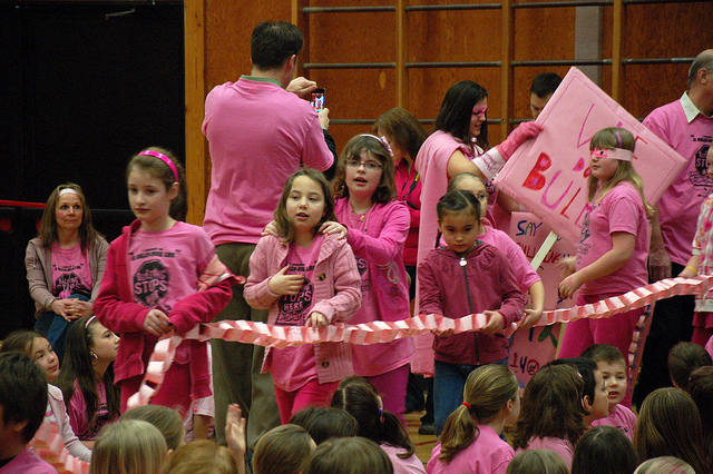 Pink shirt day in a school Photo by energeticcity, Flickr