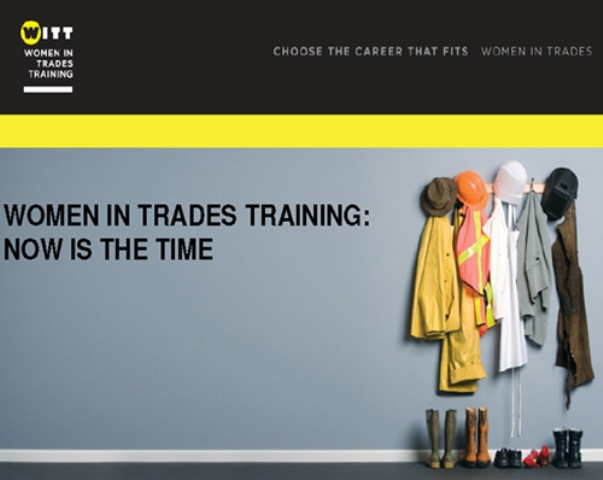 B.C. wants more women to take trades training. Photograph courtesy of Thompson Rivers University
