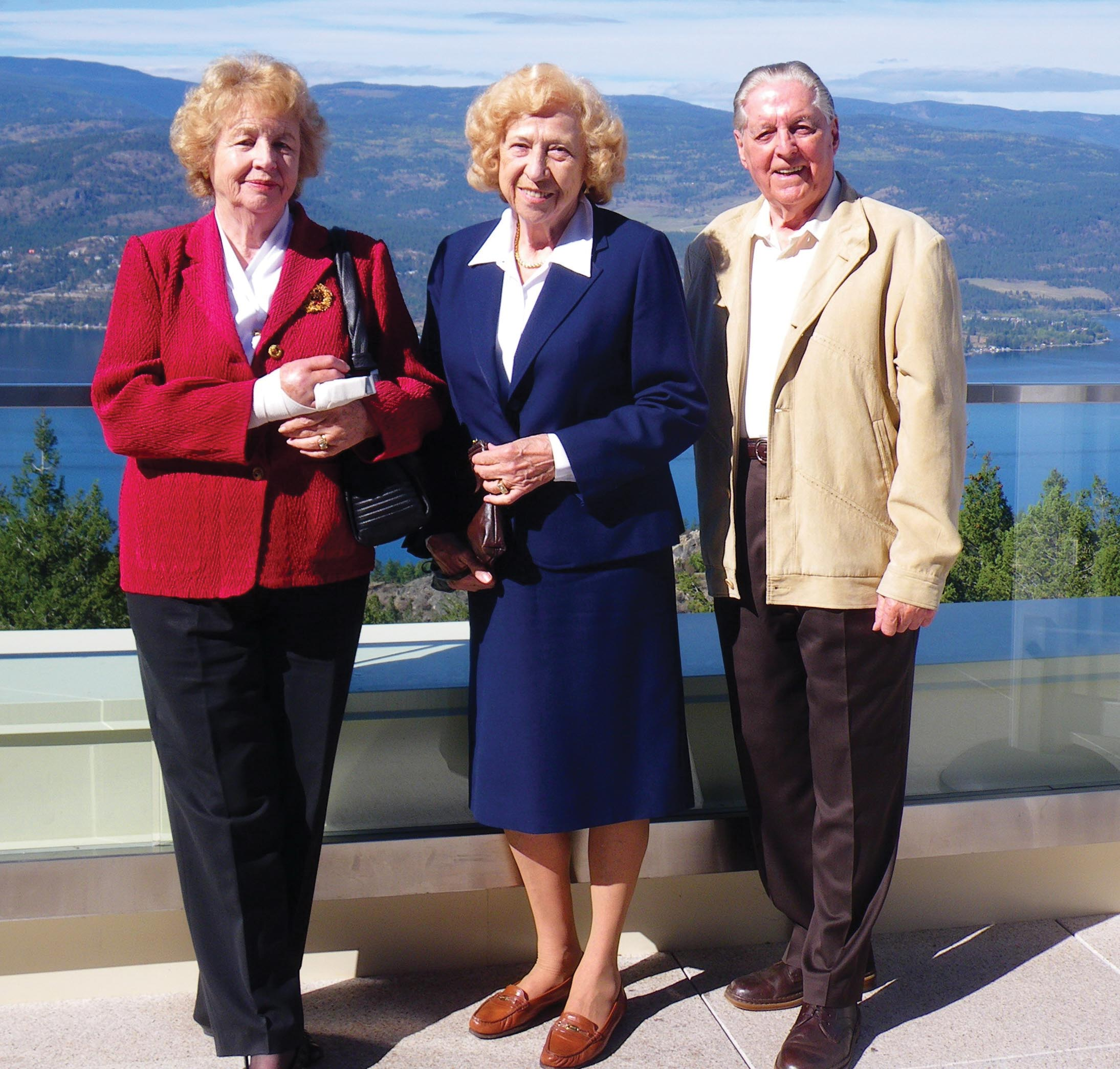 Josefine Hass, Trudy Wieczorek, and Otto Haas Photo courtesy of The Province