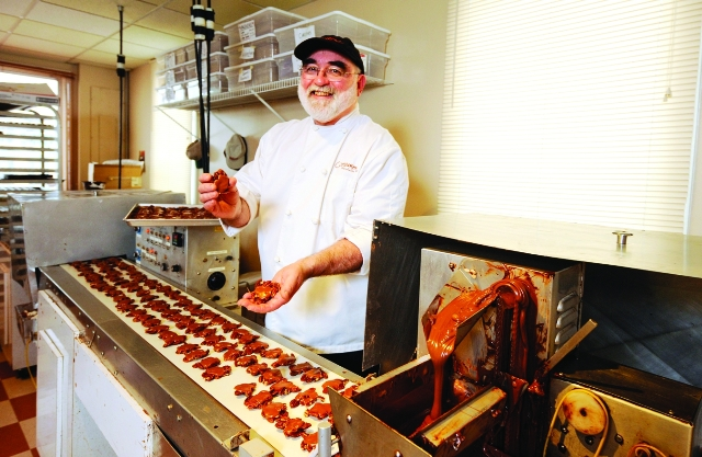 Master chocolatier Tom Cinnamon at his North Vancouver shop Photo: Glenn Baglo, The Vancouver Sun