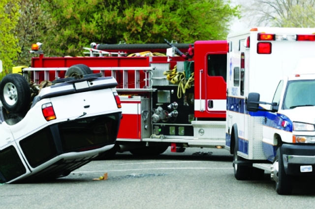 Emergency vehicles and accident Photo: iStockphoto