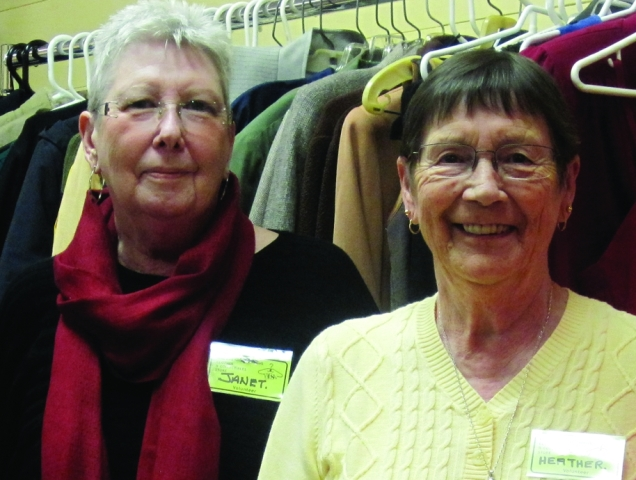 "Janet and Heather love to meet new people. They say: ""Volunteering is fun!"" Photo: Nila Gopaul"