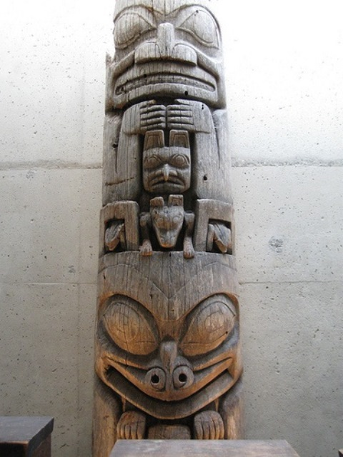 This is a Haida totem pole. Photo: fboudville, Creative Commons, Flickr