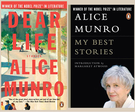 Two collections of short stories by Alice Munro Photos courtesy of Penguin Canada