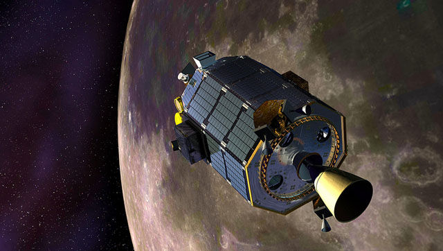 A drawing of the spacecraft called LADEE PHOTO - NASA GODDARD PHOTO AND VIDEO/CC, FLICKR