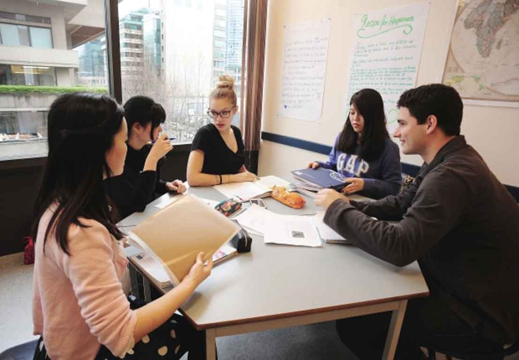 Foreign students study at the Language Studies International School. (Photo: Nick Procaylo, Vancouver Sun)