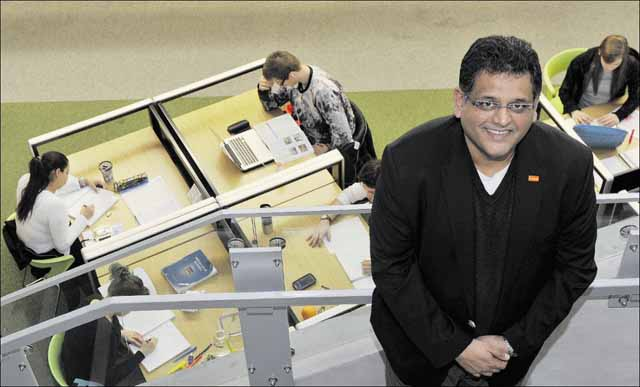 Ajay Patel brings foreign students to Langara College. (Photo: Wayne Leidenfrost / PNG)