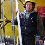 Diamond driller – Bill McIntyre started diamond drilling 25 years ago. Photo: The Province