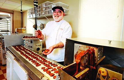 Master Chocolatier Tom Cinnamon at his North Vancouver shop (Phhoto by Glenn Baglo/The Vancouver Sun