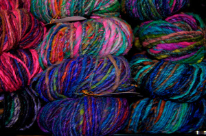 Sola uses yarn like this to make her pictures. Photo by Elliot Margolies/CC, Flickr
