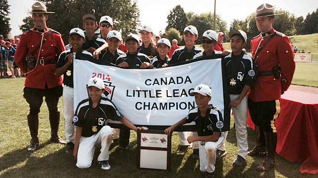 South Vancouver Little League team wins the Canadian championship. Photo courtesy of Connie Mah.