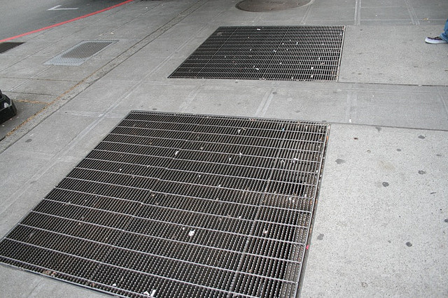 Sidewalk grate Photo by thegirlsmom/CC, Flickr