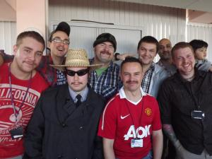 A group of men show off their moustaches for Movember. Photo by Kris Walton/CC, Flickr