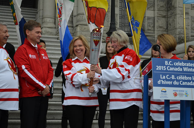 Canada Winter Game torch ceremony in Victoria, B.C. Photo by The Province of British Columbia/CC, Flickr