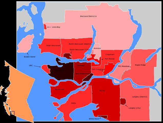 Metro Vancouver Photo by TastyCakes/CC, Wikipedia
