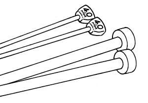knitting-needles