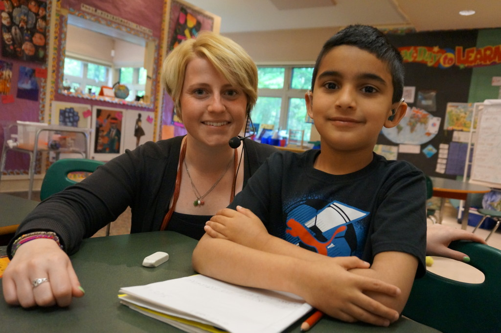 Children also work alone with a teacher. Photo courtesy of CHSC
