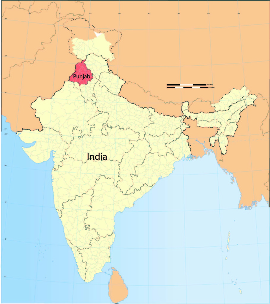 Map of India Map by Wikipedia