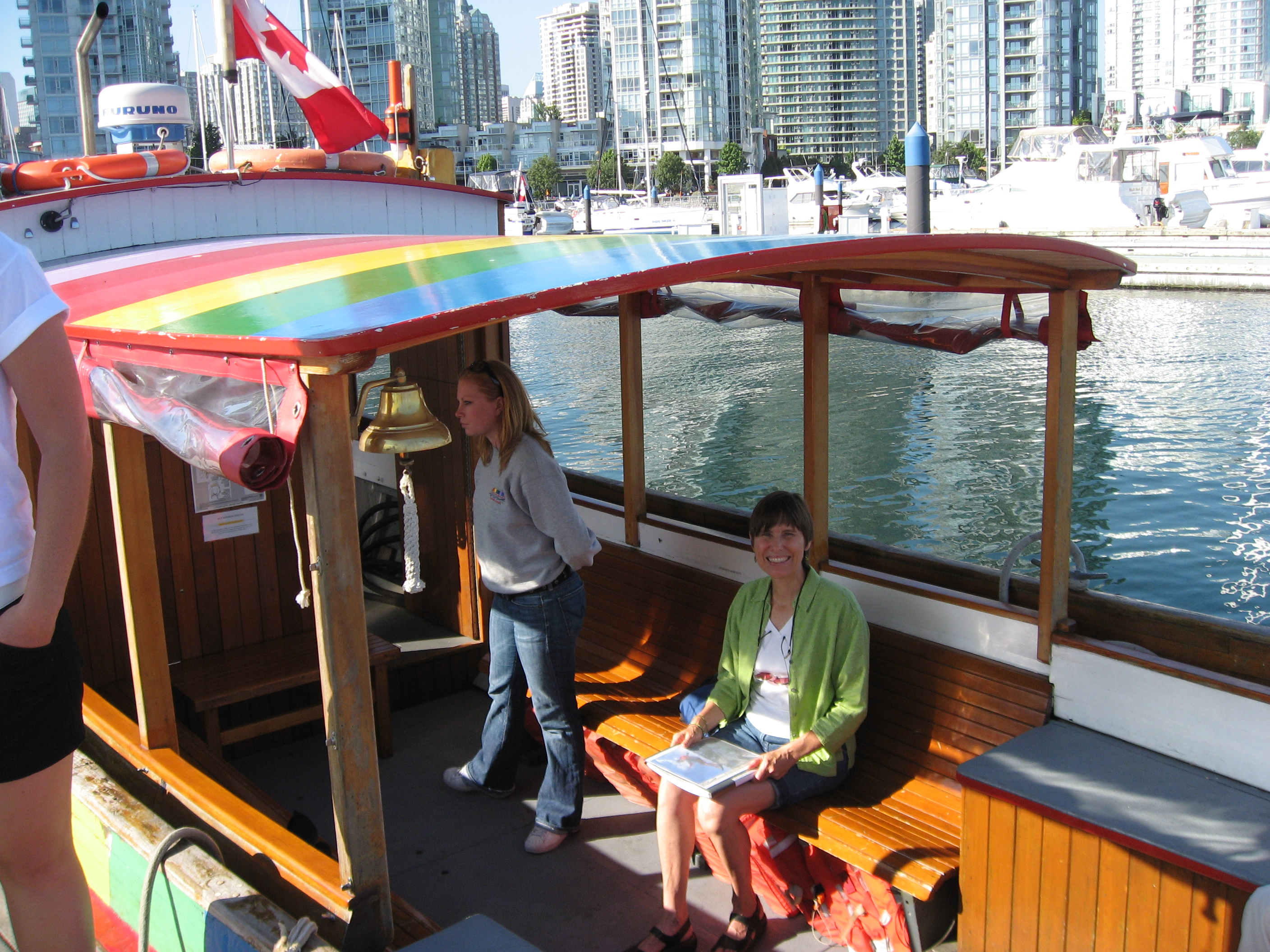 People enjoying their ride on the Aquabus Wendy Cutler/CC, Flickr