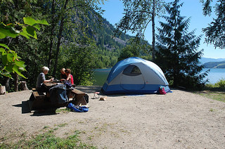 People enjoying their campsite Photo by: Province of British Columbia/CC, Flickr