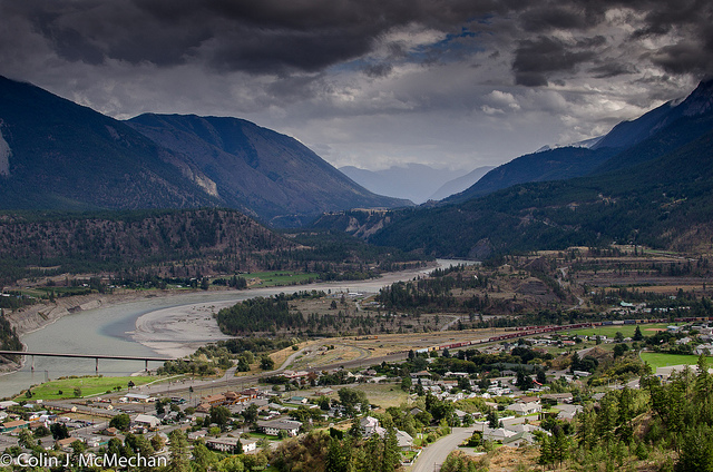 Lillooet townsite and the Fraser river Photo by Colin J. McMechan/CC, Flickr
