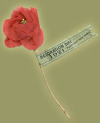 The first Remembrance Day poppy. It was made of silk in 1921. Photo: Canadian War Museum