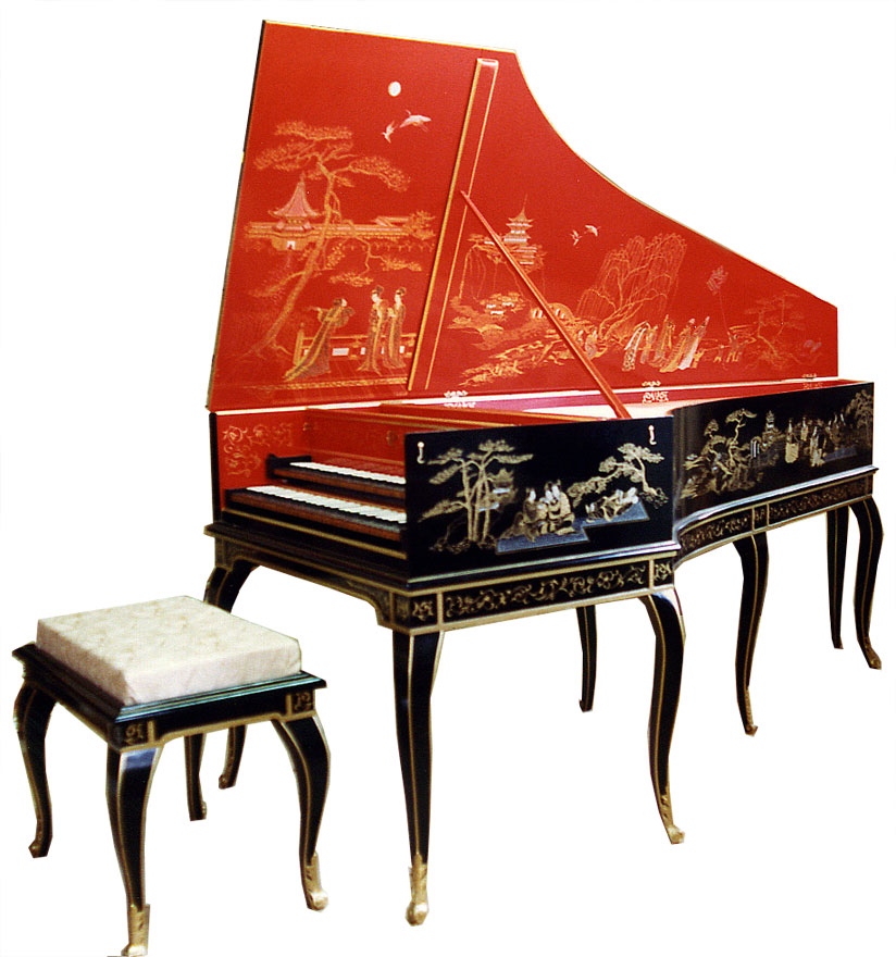 A French harpsichord made by Craig Tomlinson Photo – Courtesy of Craig Tomlinson