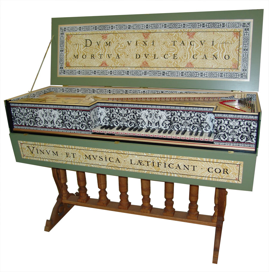 An early instrument called a virginal, made by Craig Tomlinson Photo – Courtesy of Craig Tomlinson
