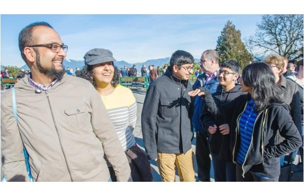PHOTO - RIC ERNST / THE PROVINCE This family gathered at Queen Elizabeth park on Family Day.
