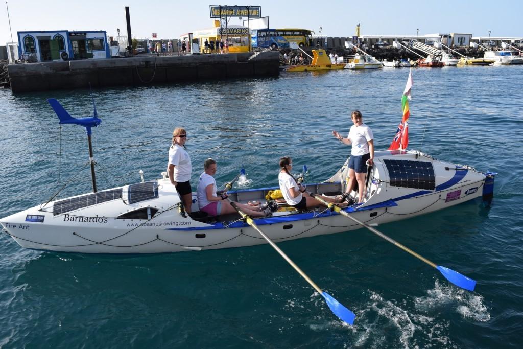 PHOTO - OCEANUS ROWERS Four women are ready to row across the Atlantic Ocean.