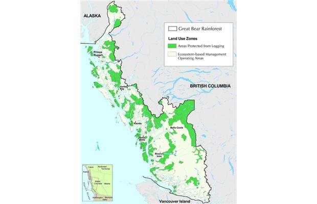 PHOTO - GREENPEACE, SIERRA CLUB B.C. FOREST ETHICS The Great Bear Rainforest is on the BC coast.
