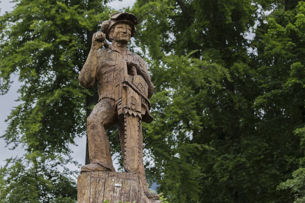 PHOTO: Pixabay.com a statue of a lumberjack