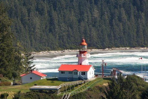 The Lennard Island Light house is near Tofino, B.C. photo - Jeff George