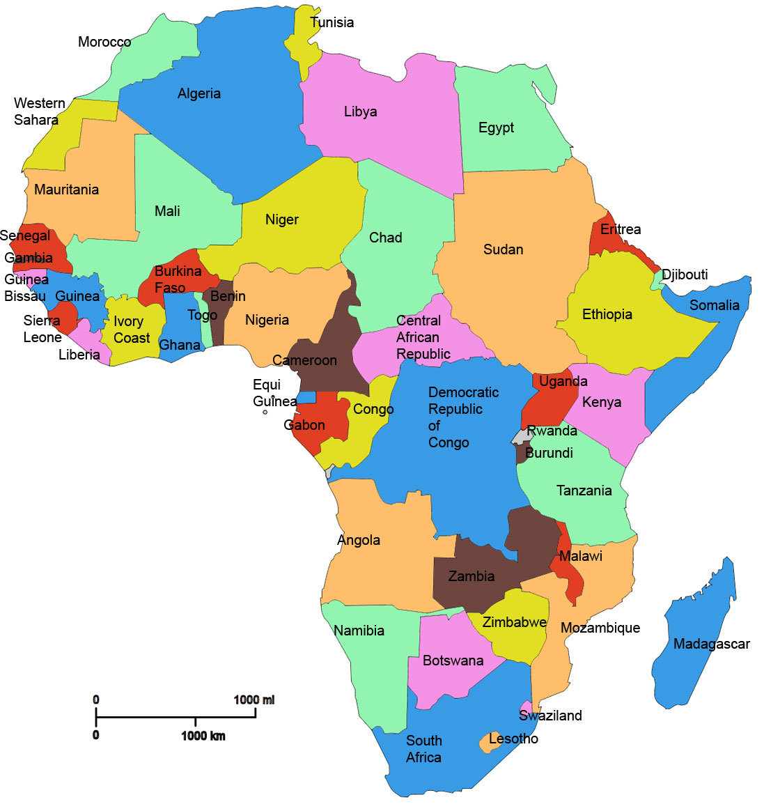 Map of Africa Countries – The Westcoast Reader